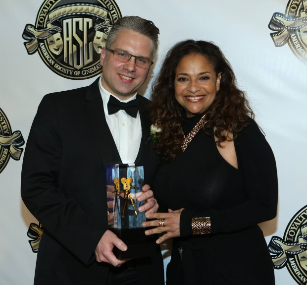 Jeremy with presenter Debbie Allen