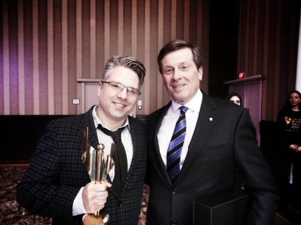 Jeremy with John Tory
